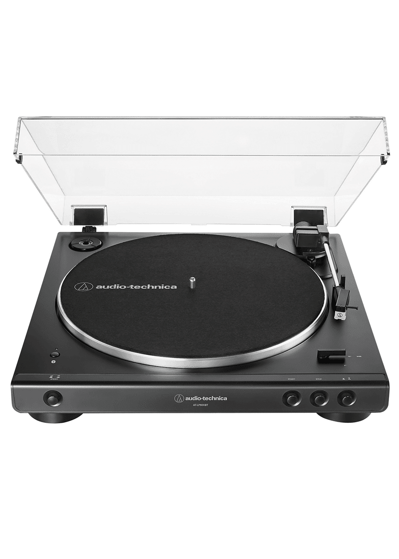 Audio Technica AT LP60XBT Fully Automatic Belt Drive Stereo Turntable Bluetooth 1 https://musicheadstore.com/wp-content/uploads/2021/03/Audio-Technica-AT-LP60XBT-Fully-Automatic-Belt-Drive-Stereo-Turntable-Bluetooth-1.png