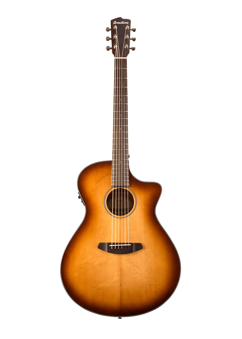 Breedlove Discovery DSCO14 Concierto Acoustic Electric Guitar Whiskey Burst 1