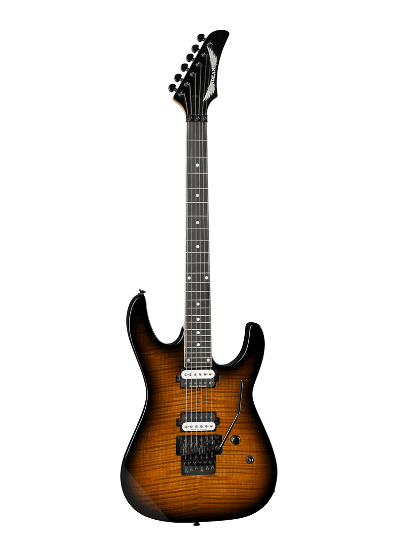 Dean Modern 24 Select Flame Maple with Floyd Electric Guitar Tiger Eye 1