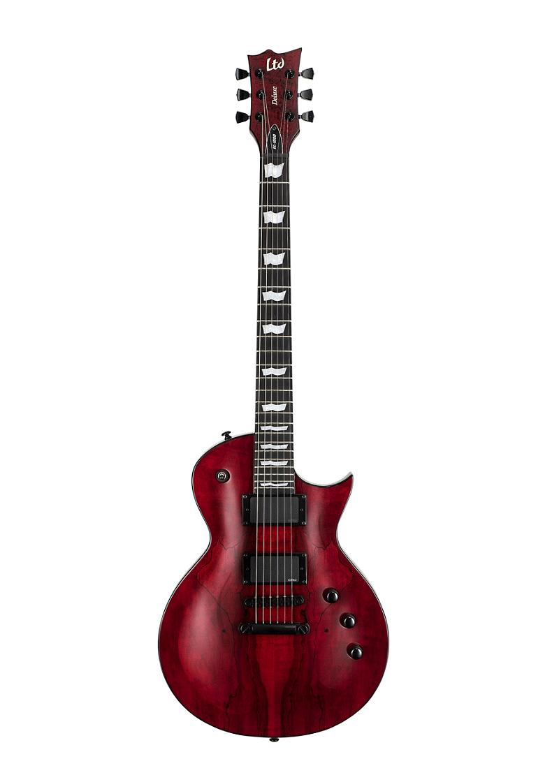ESP LTD EC 1000 Spalted Maple Electric Guitar Transparent Red 1