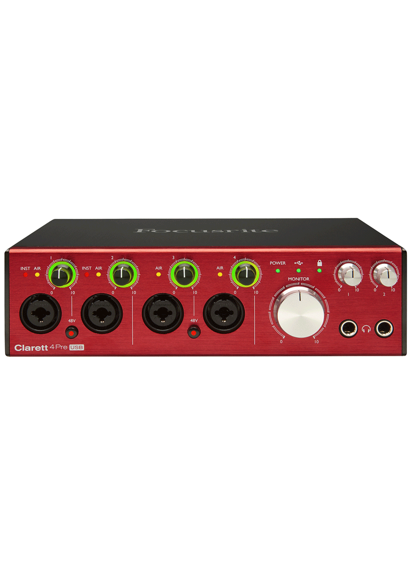 Focusrite Clarett 4Pre USB Audio Interface 4