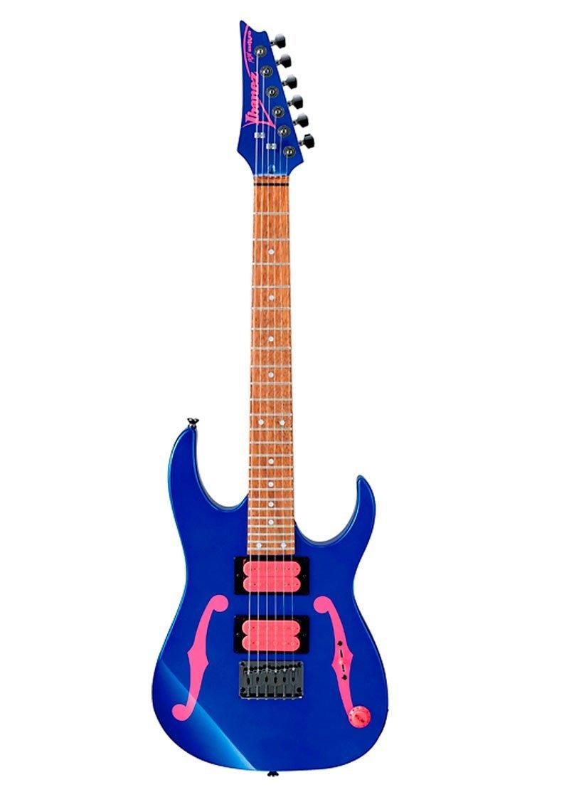 Ibanez PGMM11 Paul Gilbert Signature 6str MiKro Electric Guitar Jewel Blue 2 https://musicheadstore.com/wp-content/uploads/2021/03/Ibanez-PGMM11-Paul-Gilbert-Signature-6str-MiKro-Electric-Guitar-Jewel-Blue-2.jpg