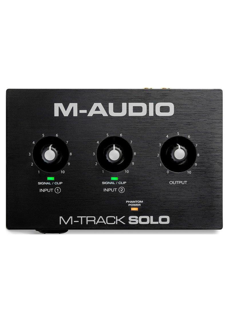M Audio M Track Solo 2 Channel USB Audio Interface 1 https://musicheadstore.com/wp-content/uploads/2021/03/M-Audio-M-Track-Solo-2-Channel-USB-Audio-Interface-1.jpg