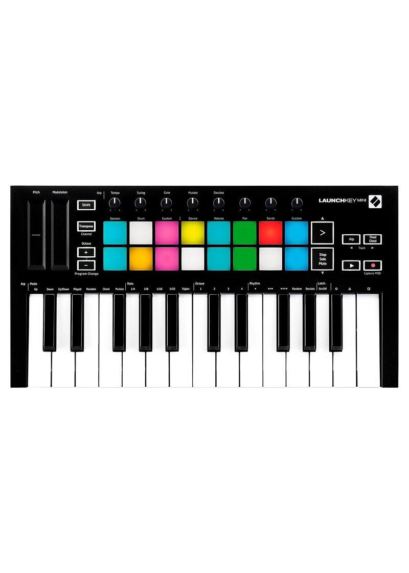 Novation Launchkey Mini MKIII Midi Keyboard Controller 1 https://musicheadstore.com/wp-content/uploads/2021/03/Novation-Launchkey-Mini-MKIII-Midi-Keyboard-Controller-1.jpg