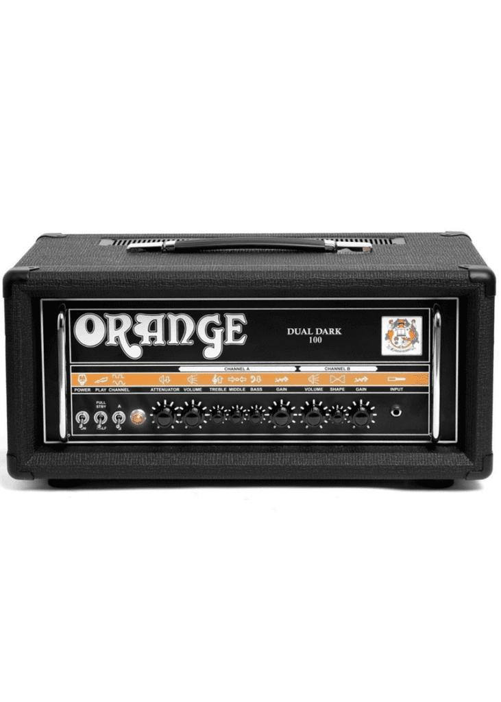 Orange Dual Dark 100 BLK Amp Guitar 1 https://musicheadstore.com/wp-content/uploads/2021/03/Orange-Dual-Dark-100-BLK-Amp-Guitar-1.png