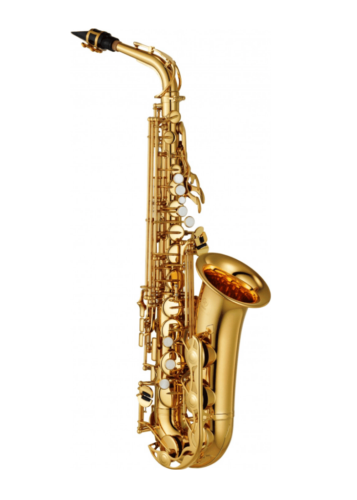 Saxo Alto Yamaha Standar Dorado YAS 280 1 https://musicheadstore.com/wp-content/uploads/2021/03/Saxo-Alto-Yamaha-Standar-Dorado-YAS-280-1.png