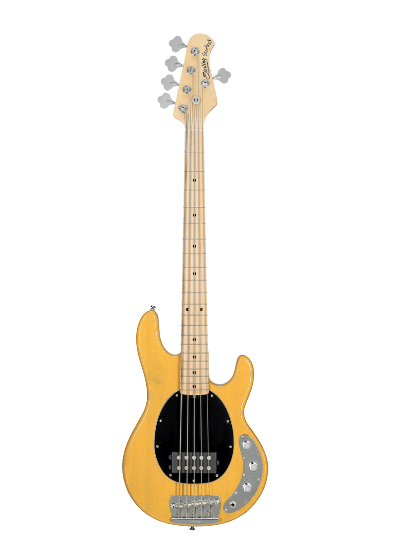 Sterling StingRay5 Classic Maple Fingerboard 5 String Butterscotch 1 https://musicheadstore.com/wp-content/uploads/2021/03/Sterling-StingRay5-Classic-Maple-Fingerboard-5-String-Butterscotch-1.png