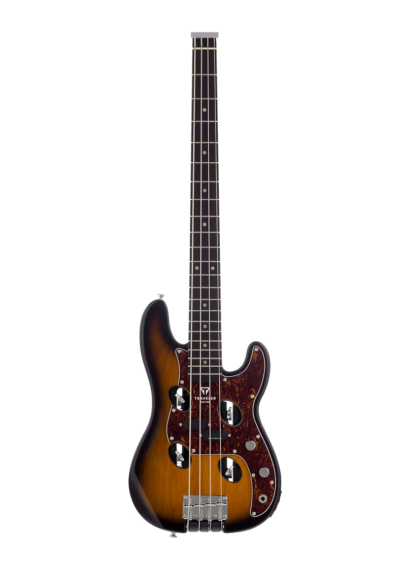 Traveler Guitar TB 4P Electric Bass Travel Guitar Sunburst 1