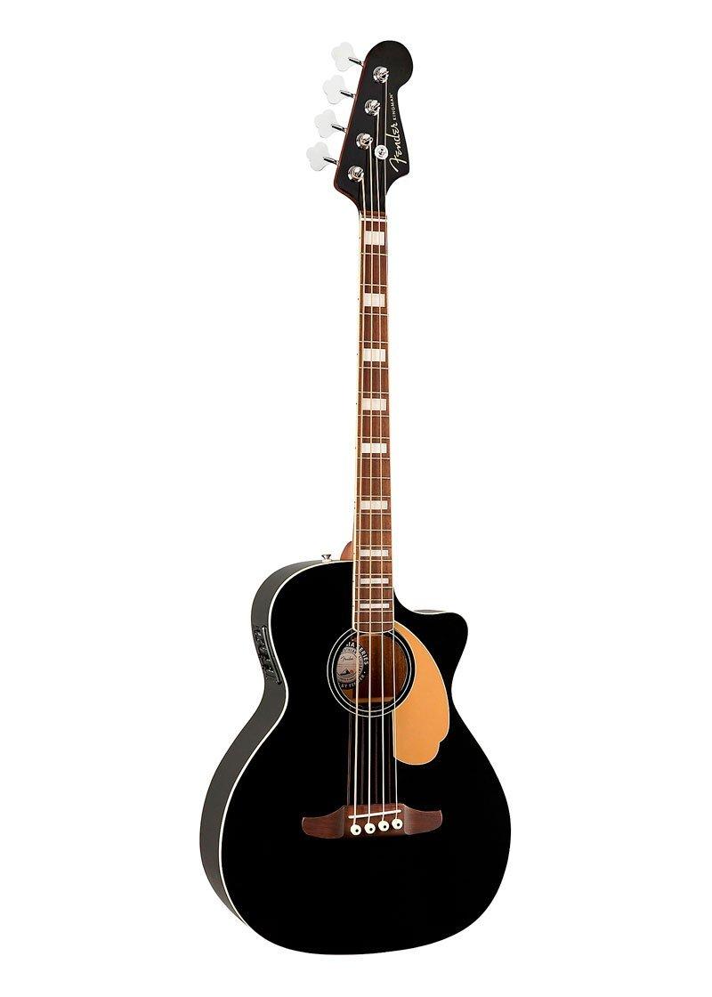 Fender Kingman V2 Acoustic Electric Bass Black 2