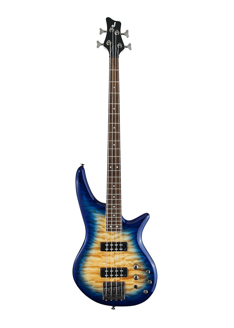 Jackson JS Series Spectra Bass JS3Q Amber Blue Burst 1